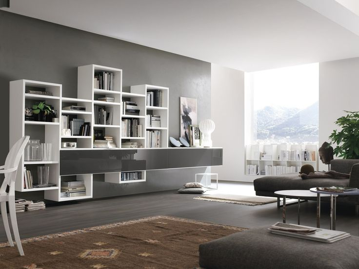 Fantastic nice awesome cool adorable decorative wall unit idea with white wooden bookshelf design and has floating design wallpaper wonderful decorative