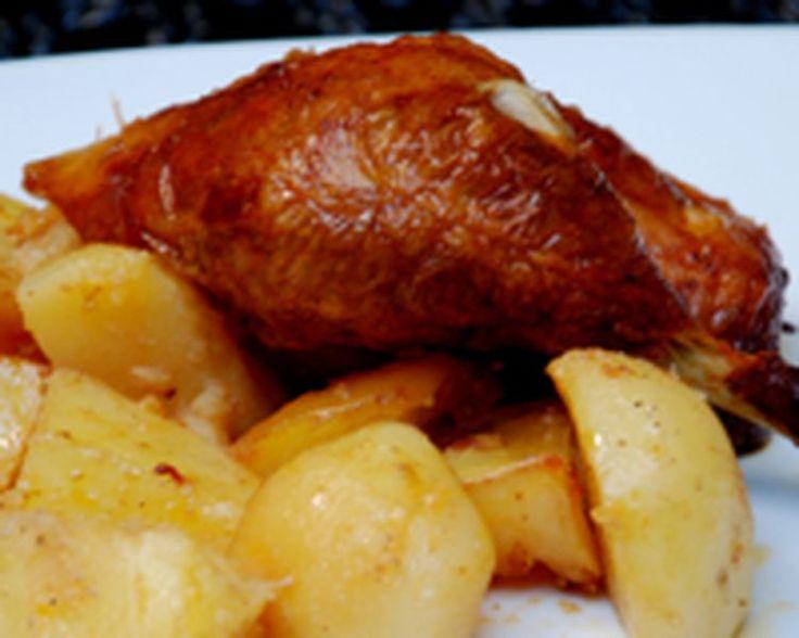 Peruvian Roasted Chicken with Yellow Potatoes: Pollo a la Brasa