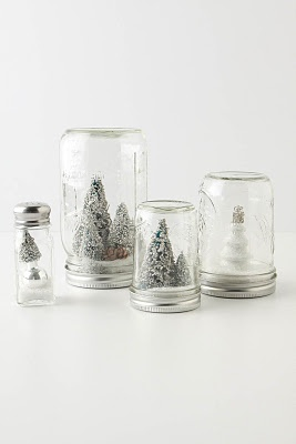 this might just be doable this year, maybe.: Jars Snow, Idea, Snow Globes, Trees, Snowglob, Mason Jars, Salts Shakers, Masonjar, Diy