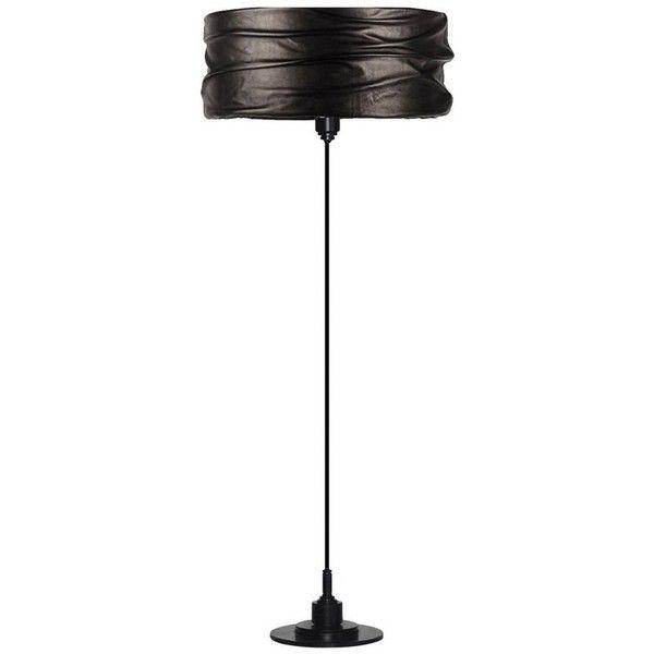 Semele Black Floor Lamp (¥465,925) ❤ liked on Polyvore featuring home, lighting, floor lamps, black, black lamp shade, black floor lamp, acanthus press, round lights and circular lights
