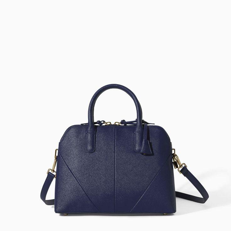 MINI CITY BAG in Navy Blue from Zara $79.90