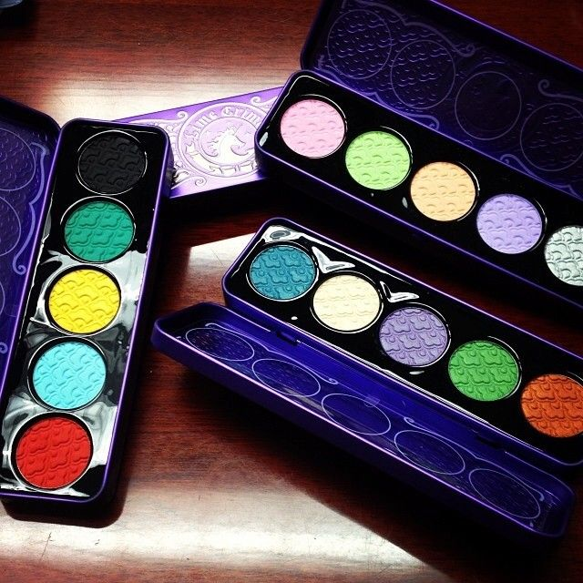We have a ton of Fantasy Palettes in stock! Fantasy Palettes are a flight of fancy... in eyeshadow form! Each palette features 5 coordinated hues that work flawlessly together. The cashmere-soft formula is loaded with pigment & offers luxurious payoff and superb blendability. Palettes arrive encased in a deluxe tin that is perfect for travel! #LimeCrime #fantasy #eyeshadow #palette #bright #colourful #eyes #unicorn #makeup #cosmetics #beauty #girly #fashion #unique #Canada #retail #outlet