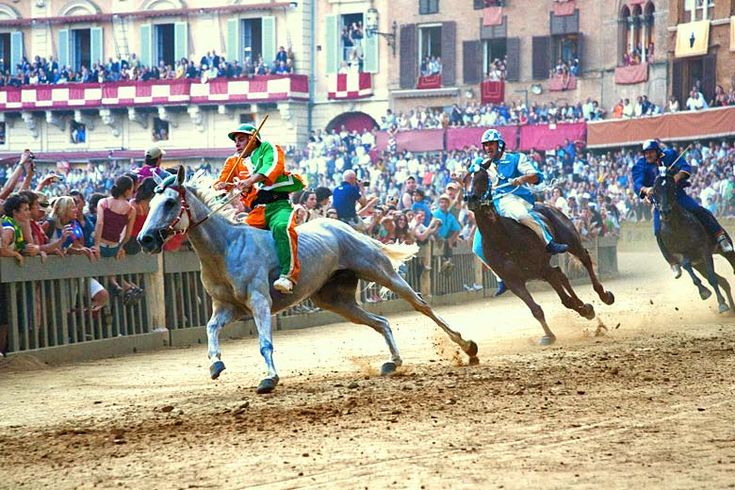 The Palio is run around the main square of #Siena | Tuscan treats - A brief guide to #Florence, #Siena, #Pisa and more | Weather2Travel.com #travel #italy #tuscany