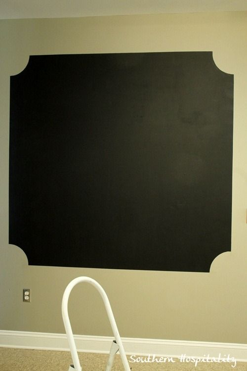 Making A Chalk Board Wall With Frogtape Chalkboard Wall Paints Chalkboard Walls And Paint