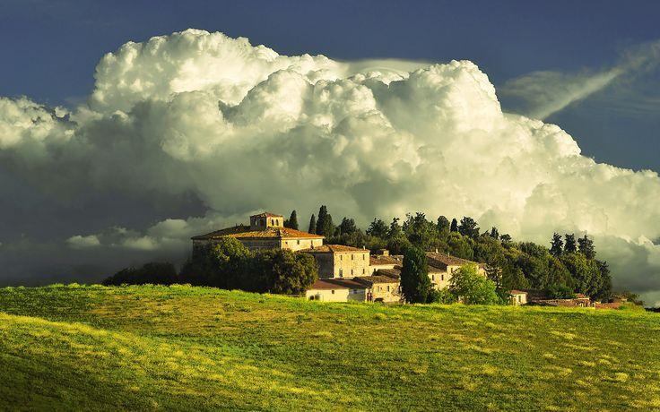 Storm on a Tuscan Villa, Tuscany region, Italy
