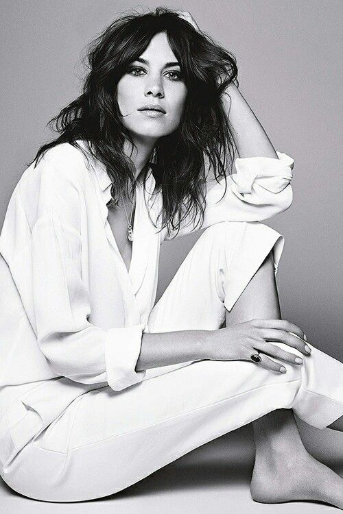 .Fashion, Alexa Chung Editorial, Uk July, July 2014, Style, Derek Kettela, White Shirts, Beautiful, Glamour Uk