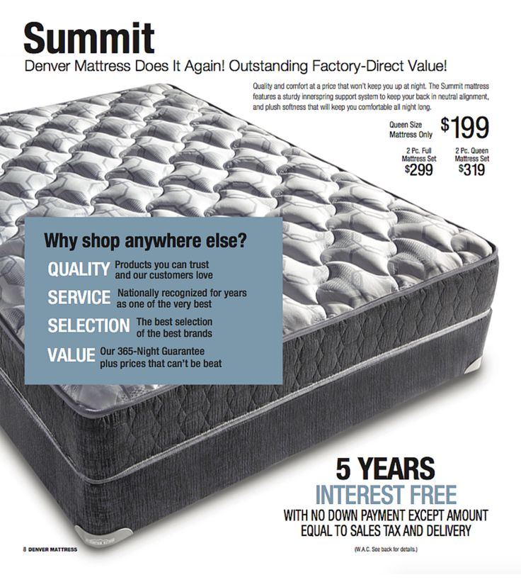 The Summit Mattress From Denver An Outstanding Factory Direct Value