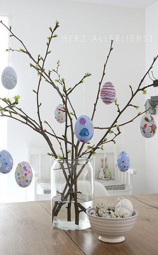 spring branches for egg decor...