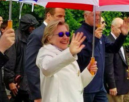SICK HILLARY Wears Rumored Anti-Seizure Sunglasses At Chappaqua Memorial Day Parade (PHOTO)