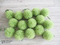 Pompony tiulowe, Pompon 15 cm, Z tiulu #pompones #tulle #tulleballoons