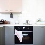 Aah vad fint, ett rosa och grått kök! //Från Scandinavian Deco