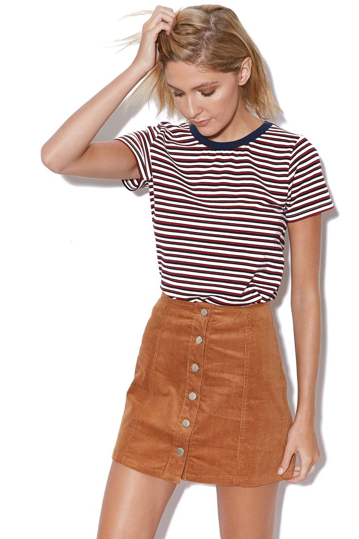 PARE BASIC Shelby Skirt Tan