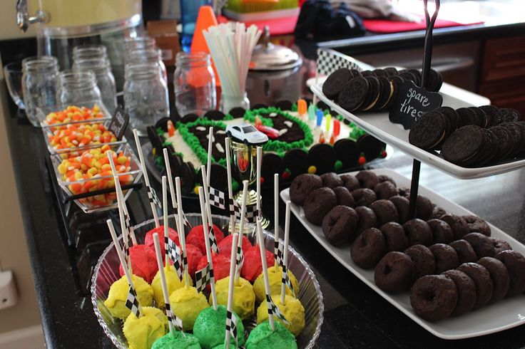 2nd Birthday Party- Race Car Theme- Sweets Bar
