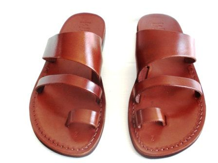 Brown Leather Sandal TRIPLE Style for Women and Men