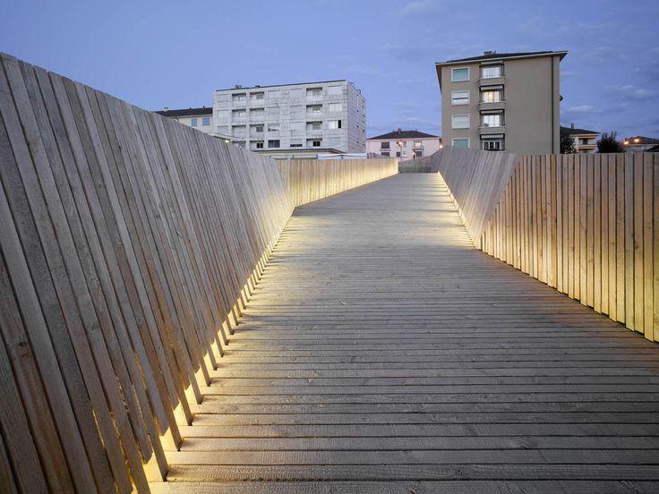 La Sallaz Footbridge / 2b architectes