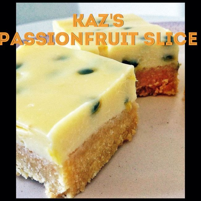 Kaz's Passionfruit slice (Thermomix Method Included) « Mother Hubbard's Cupboard