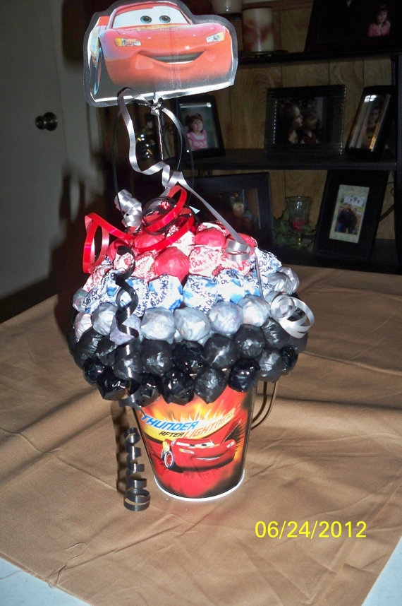 Cars The Movie Dum Dum Sucker Centerpiece by JLCrafters on Etsy, $15.00