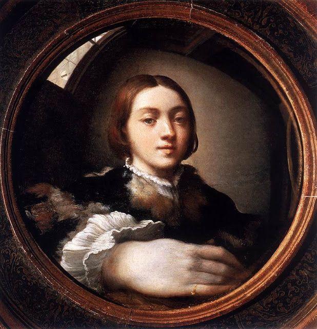 Αυτοπροσωπογραφία μέσα από ένα κοίλο καθρέπτη (1524)