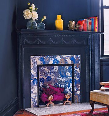 chinoiserie chic top ten chinoiserie wallpapers 4 - Moderner Kamin Umgibt Kaminsimse