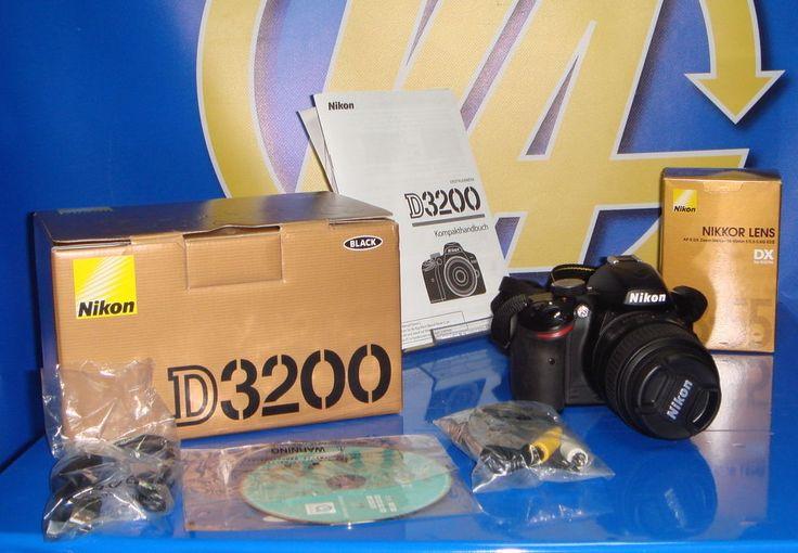 Camara Nikon D3200 24,2 Mp Digital Slr Camera-Negra (Kit C / Af-s Dx Vr 18-55mm)