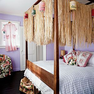 15 Beautiful Bedrooms | Tropical Punch | CoastalLiving.com  And they can be purchased so cheaply from Orientalexpress.com