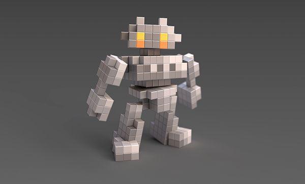 voxel character - Google 검색