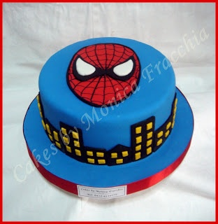 TORTA DECORADA DE SPIDERMAN | TORTAS CAKES BY MONICA FRACCHIA