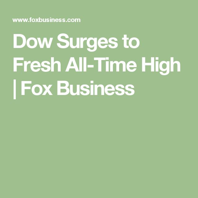 Dow Surges to Fresh All-Time High   Fox Business