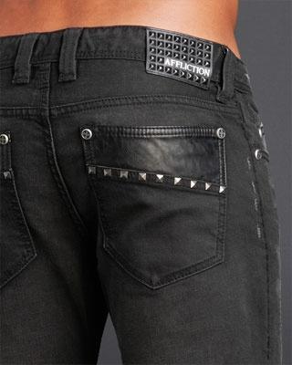 Affliction Clothing. Denim Pants:  Ace Seam Stud