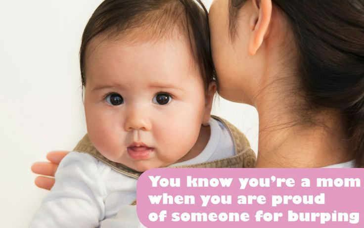 Je weet dat je een moeder bent, als... - Babyblog #grappig #moeder #baby #funny #quote / You know you're a mom when you are proud of someone for burping