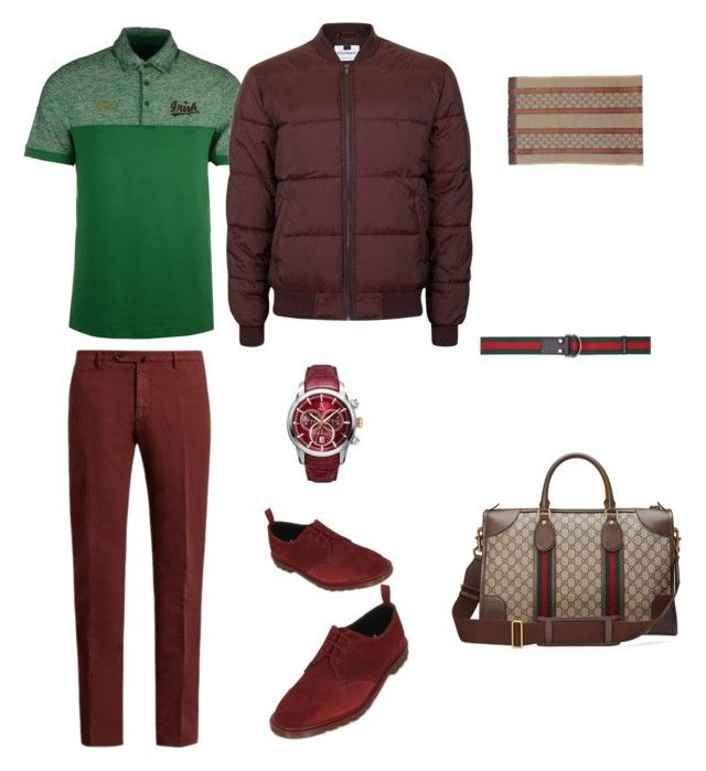 """Длинный торс"" by mawunya on Polyvore featuring Dr. Martens, Incotex, Under Armour, Topman, Allurez, Gucci, men's fashion и menswear"