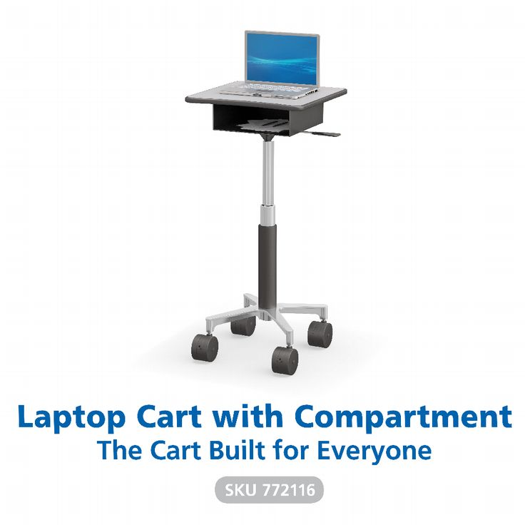 A handy, complete workstation that is height adjustable and has storage to keep the essentials in place