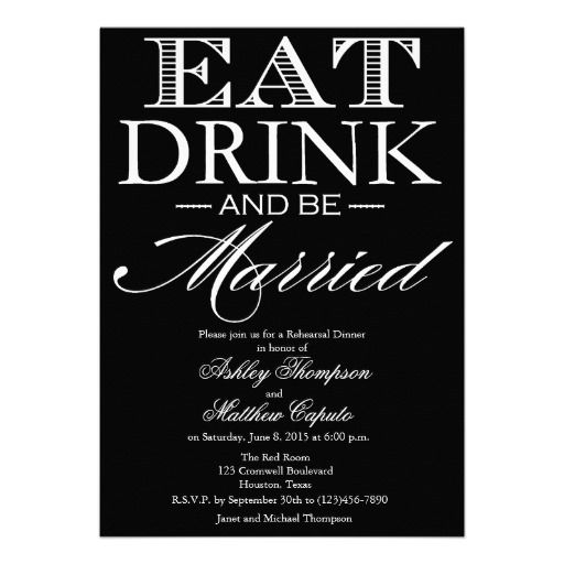 1000 Images About Eat Drink And Be Married On Pinterest: 20 Best Eat Drink And Be Married Invitations Images On