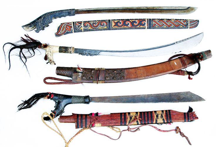The Mandau Dayak.  The mandau is the traditional weapon of the Dayak of Kalimantan, Indonesia. In the past, the majority of the native people living in the island of Kalimantan, the Dayak, were animists in belief. Perhaps the most striking is their ancient tradition of headhunting practices. And it is also precisely for this purpose that the Dayak used the mandau. | $288.99