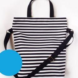 Film noir táska fekete füllel, kék béléssel