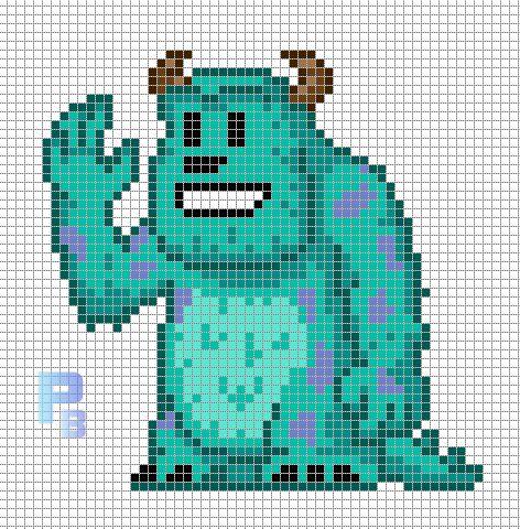 Sulley Monsters, plantillas para hama
