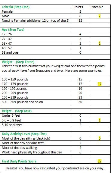 Weight Watchers Points Chart Printable | Weight Watchers Program – Pros and Cons