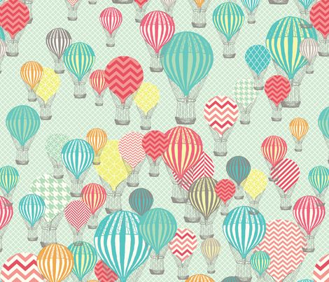 Hot Air Balloons fabric by allisonkreftdesigns on Spoonflower - custom fabric