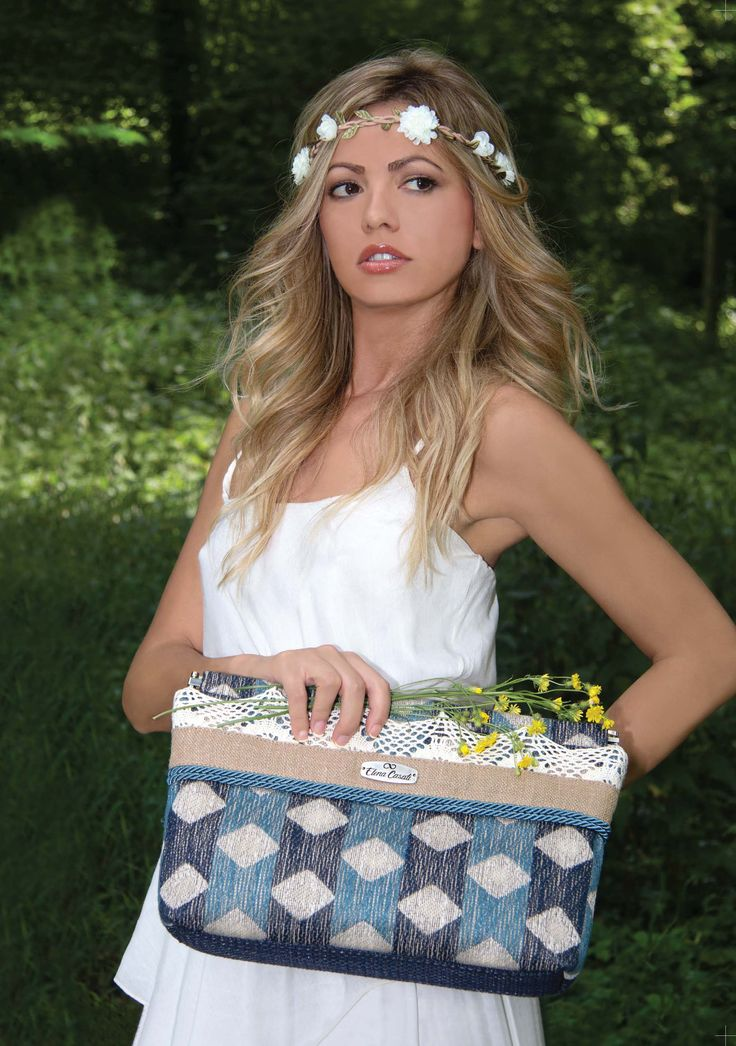 "LOOKBOOK SS 2015 PREVIEW ""MADINA"" CLUTCH Blue-Light Blue variant  Soon on-line here: www.elenacasati.com"