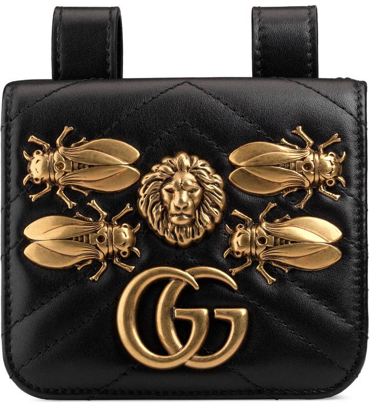 eb279c2fe703 Gucci GG Marmont animal studs belt accessory | bags | Gucci handbags ...
