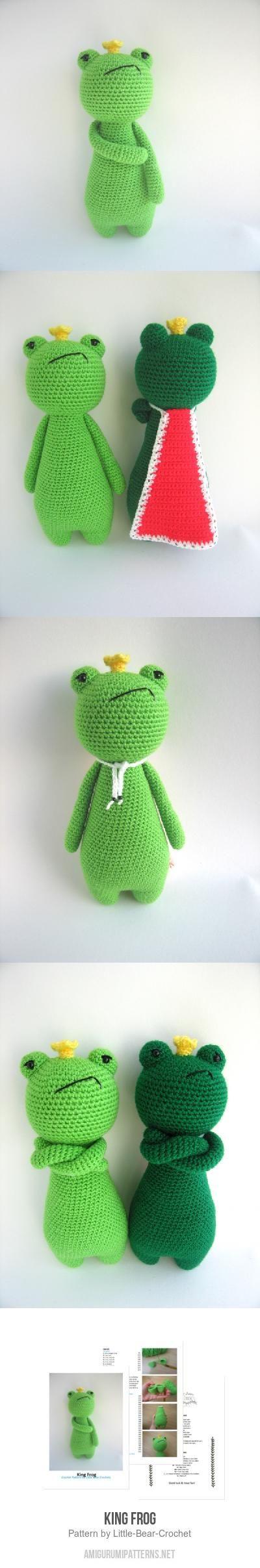 King Frog Amigurumi Pattern