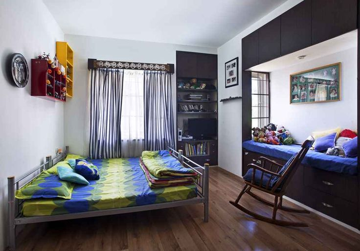 White and Blue Kids Bedroom