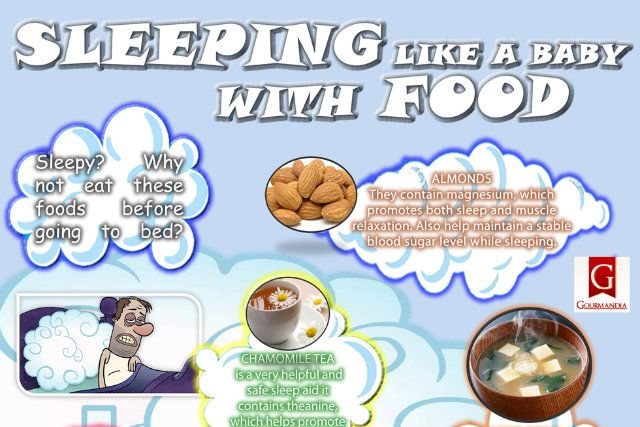 Infographic: Foods That Will Help You Sleep Like a Baby - foodista.com