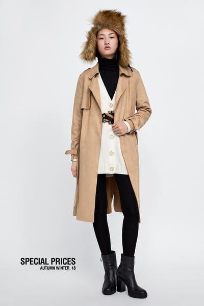 9ae13fbb Baloner od umjetnog antilopa | wannaBUY | Suede trench coat, Coat ...