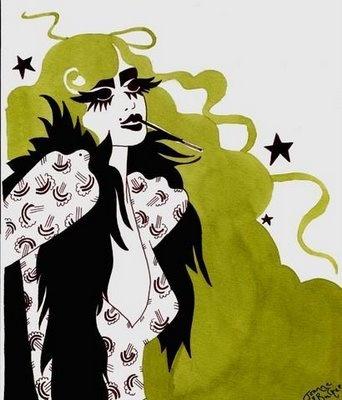 BIBA graphics by Joanne Burke for her gorgeous book: Biba Dolls