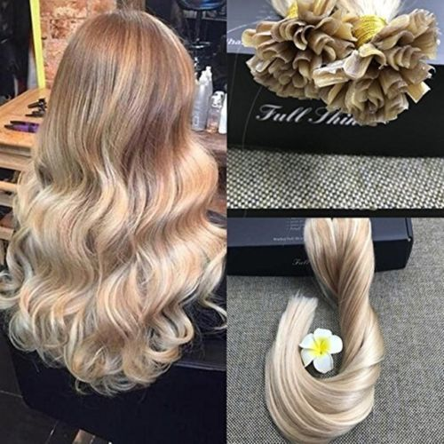 U Tip Fusion Keratin Remy Hair Extensions Prebonded Balayage Ombre Color 1g S