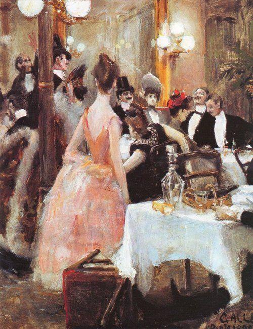 """After the Opera Ball"" (1888) by Akseli Gallen-Kallela (1865-1931)."