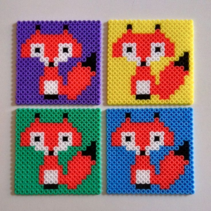 Foxy coasters hama beads | This is what I do