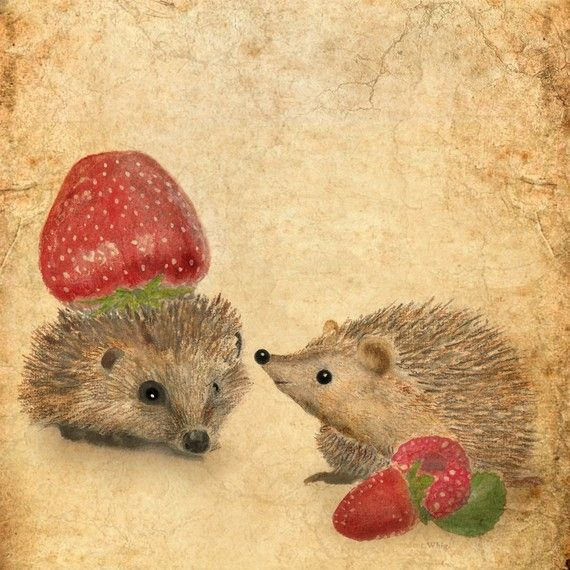 Art card Strawberry Fields Forever by AnneSolfud on Etsy, $7.00