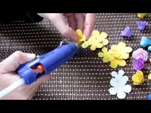 МК 'Маленькие розочки из фоамирана' - YouTube